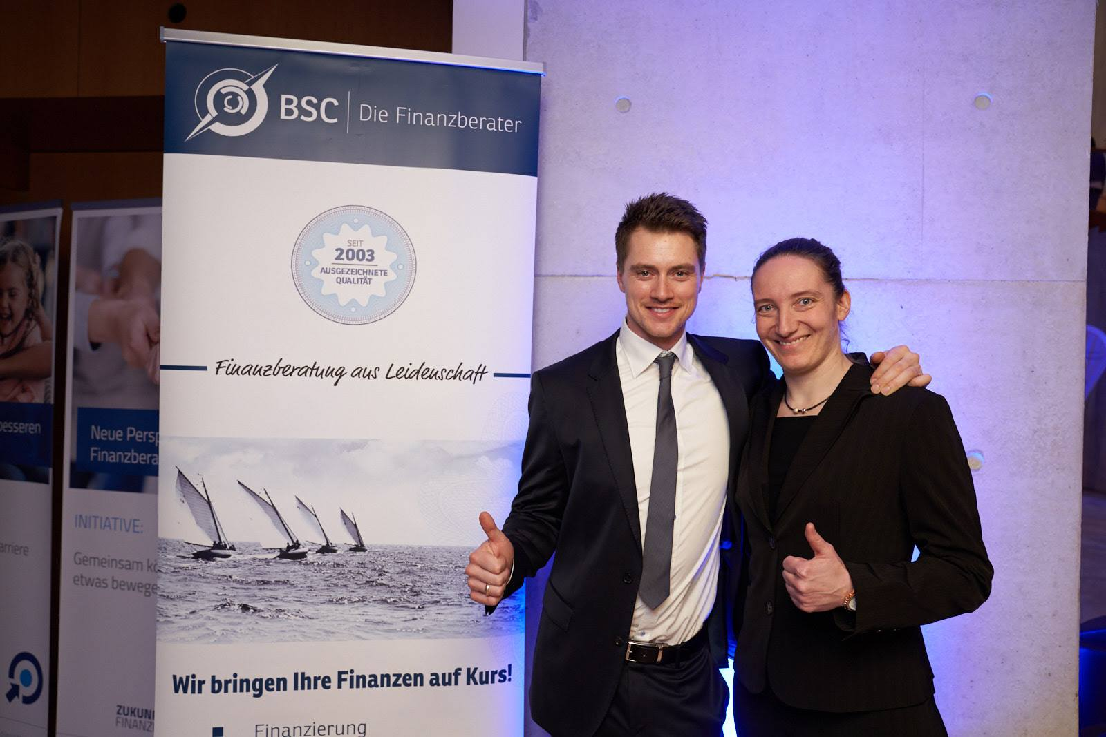 Spitzensportler erwarten Spitzenleistung! Langjährige BSC-Kunden und Olympiasieger im Rennrodeln: Johannes Ludwig und Tatjana Hüfner