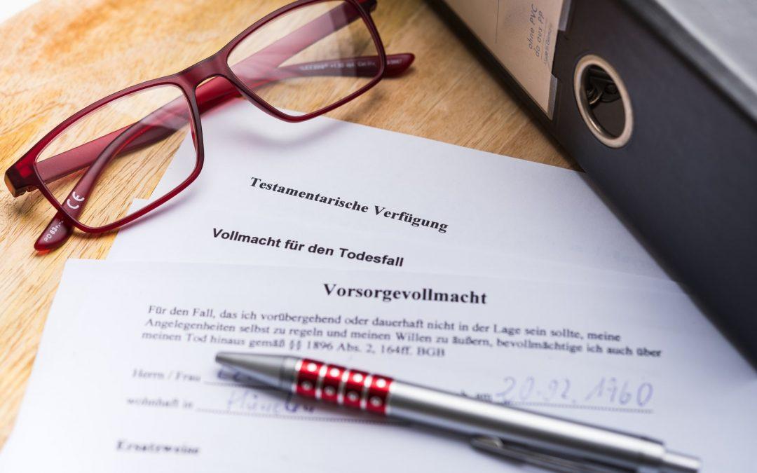"""Kostenloser Informationsabend: """"Vorbereitet im Fall X – Patientenverfügung Volmacht und Co."""""""